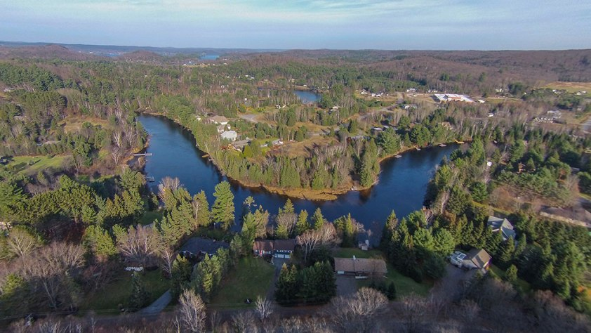 Ariel View of Muskoka River